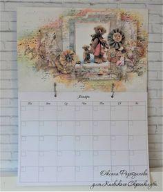 Дразнилка картонная : Календарь планер / ДК Киевский скрапклуб