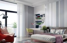 Dazzling Bedroom Designs With Striped Accent Walls - Top Dreamer