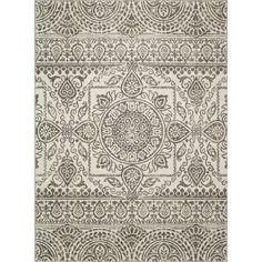 Shop Concord Global Manhattan Rectangular Gray Geometric Woven Area Rug (Common: 4-ft x 4-ft; Actual: 31-in x 49-in) at Lowes.com $49