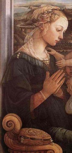 Botticelli. Detail of Madonna with the Child and two Angels. 1465. Italian Renaissance Art, Renaissance Paintings, Giorgio Vasari, Italian Painters, Italian Artist, Catholic Art, Religious Art, Madonna And Child, Classic Paintings