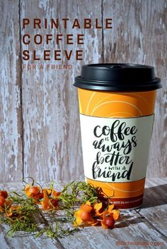 Free Printable Coffee Sleeve for a Friend for the new coffee from /7eleven/
