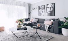 Living room Inspo✨ Living Room Grey Couch Decor Rugs 69 Ideas How to buy Rugs Article Body: Points t Living Pequeños, Living Room Throws, Cozy Living Rooms, Living Room Carpet, Home Living Room, Modern Living, Apartment Living, Minimalist Living, Modern Minimalist