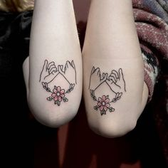 promise and floral tattoo