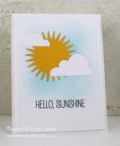 KarrenJ - Stamping Stuff: Hello Sunshine