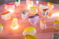 Glass vases by Bibi Smit.