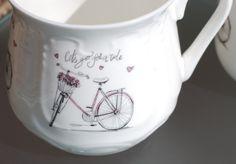Silesian mug Pink bike Kubek śląski Rózowy rower