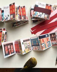 A miniature Concertina street.The second edition.Hand bound and is a limited edition.Styles of houses and buildings from around the UK. Concertina Book, Accordion Book, Up Book, Book Art, Art Design, Book Design, Book Illustration, Digital Illustration, Design Editorial