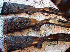 Photo Wood Carving Art, Bone Carving, Weapons Guns, Guns And Ammo, Gun Art, Custom Guns, Metal Engraving, Hunting Rifles, Art Carved