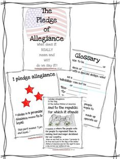 The Pledge of Allegiance Cut and Paste #KindnessNation #
