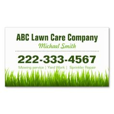 Lawn Care Business Card Templates on http://www.webnuggetz.com ...