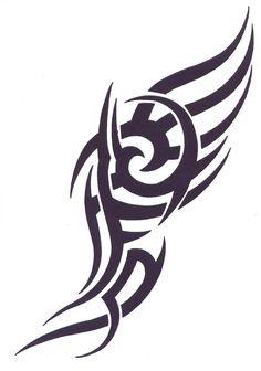 Lovely Tribal Tattoo Design