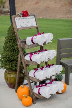 """To have and to hold in case you get cold"" Perfect fall wedding favor!"