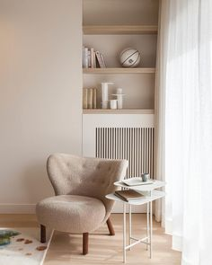 Little Petra Lounge Chair Small Living Rooms, Living Room Designs, Living Room Decor, Contemporary Radiators, Cosy Corner, Radiator Cover, Art Deco Home, Decorating Small Spaces, Decoration