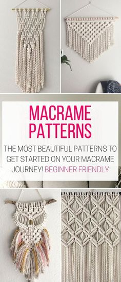 I found these DIY Macrame Wall Hanging Patterns and I want to try make one for m. Hand Made , I found these DIY Macrame Wall Hanging Patterns and I want to try make one for m. I found these DIY Macrame Wall Hanging Patterns and I want to try . Macrame Wall Hanging Patterns, Macrame Plant Hangers, Macrame Art, Macrame Projects, Macrame Wall Hangings, How To Macrame, Free Macrame Patterns, Large Macrame Wall Hanging, Tapestry Wall Hanging