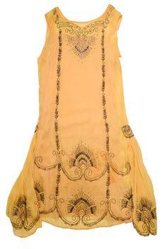 1920s Yellow Chiffon dress - This gorgeous dress was worn by Julia Schirmer (1889-1985) of Charleston, SC