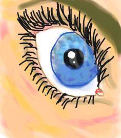 'Eye' Colorized Sketch by Sarah D.