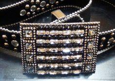 Black & Clear Buckle #Swarovski #crystal #belt #buckle #ladamidesgns Crystal Belt, Belt Buckle, Chanel Boy Bag, Swarovski, Shoulder Bag, Crystals, Bags, Fashion, Handbags