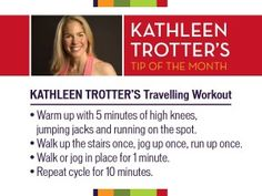 """You can workout anywhere with this """"travelling workout"""" - all you need is 20 minutes and some stairs."""