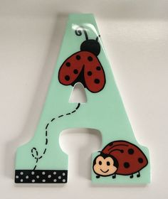 Amazin wooden letters, hand painted. $15,00