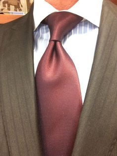 Sam Hober Tie: Burgundy Diamond Weave Silk Tie 12 http://www.samhober.com/diamond-weave-silk-ties/