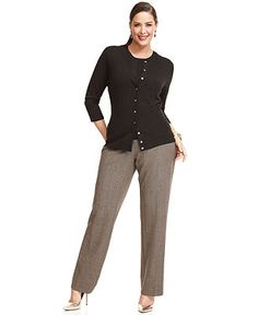 Work Your Wardrobe Plus Size Twinset & Trousers Look - Plus Sizes - Macy's