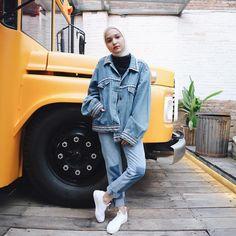 "3,193 Likes, 19 Comments - Soraya Ulfa Faisal (@sorayaulfa15) on Instagram: ""Denim on denim lageee. Denim jacket dari @heiguys_ dongs  #heiguysxsorcha"""