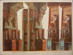 Schreiber - Egyptian Temple Side scenes