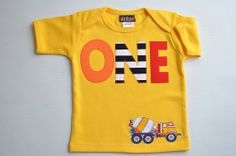 Hey, I found this really awesome Etsy listing at https://www.etsy.com/listing/175622396/boys-construction-birthday-shirt