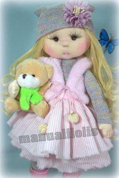 visita mi canal manualilolis Harajuku, Style, Cloth Doll Making, Fabric Dolls, Craft, Baby Dolls, Beautiful Things, The Creation, Create