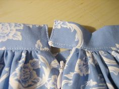 This method of sewing half-elastic waistbands with one continuous piece is so fast, easy, and beautiful. My mother did it this way, too!