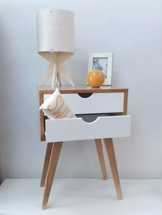 Best Retro Bedside Table Designs For Your Classic Bedroom Nordic Furniture, My Furniture, Modern Furniture, Furniture Design, Plywood Furniture, Retro Bedside Tables, Bedside Table Design, Side Tables Bedroom, Project Table