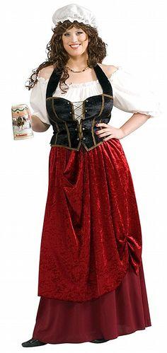 Tavern Wench Adult Plus Costume - Costume Castle