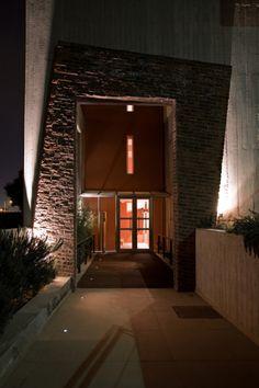 Lighting Design, Entrance, Concrete, Construction, Pure Products, Architecture, Building, Brick Walls, Modern