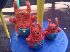 Button Bunnies knit toy pattern - get 50% off your purchase by entering NOVEMBER at checkout! Offer good through 11/30/2013.