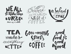 Food lettering set  @photoshoplady