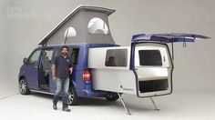 Camioneta Motorhome Doubleback VW para Camping @♚ Alvaro I read about these.....when looking to see IF VW would EVER come out with another camper van.