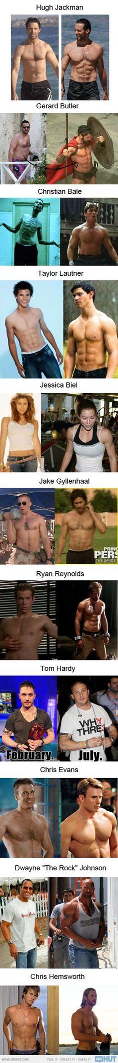 Celebrity Body Transformation