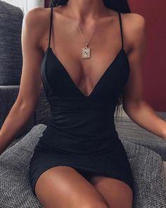 Women's Fashion Vestidos Bodycon Online Shopping – IVRose Sexy Outfits, Sexy Dresses, Trendy Outfits, Cute Dresses, Dress Outfits, Cute Outfits, Fashion Outfits, Party Dresses, Black Mini Dresses