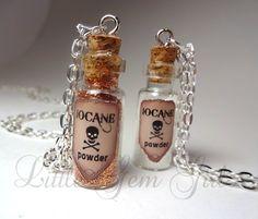 Iocane Powder Glass Bottle Necklace  Poison by LittleGemGirl, $19.00