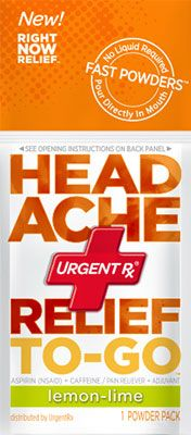 UrgentRx Headache Relief Need to try this soon the next time I wake up with an unexpected headache.