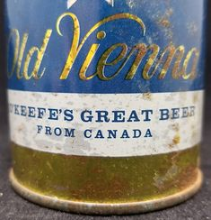 Vintage Old Vienna Imported from Canada Steel Beer Can Carling O'Keefe Brewing - wide seam - Good condition for age.