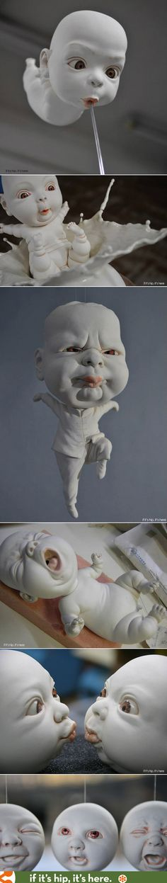 "Porcelain ""babies' by Johnson Tsang"
