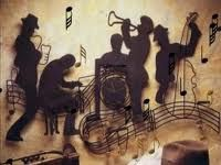 Love the combo of silhouettes with music notes
