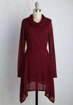 'Til the Cowls Come Home Dress in Burgundy | Mod Retro Vintage Dresses…