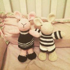 Las Marinas Crochet: Conejitos a la moda