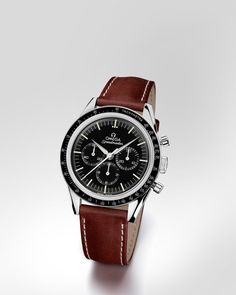 "OMEGA Watches: Speedmaster Moonwatch ""First Omega in Space"" - Others on leather strap - 311.32.40.30.01.001"