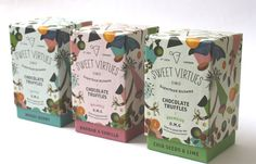 Sweet Virtues Superfood Truffles on Packaging of the World - Creative Package Design Gallery