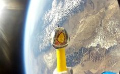 US International Business Times; Rubber chicken in Space