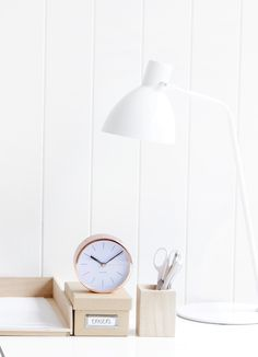 Always be on time with this stunning copper Karlsson Desk Clock - perfect for adding a touch of Scandinavian style to your home