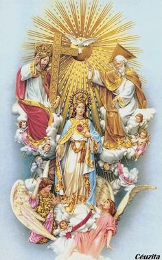 Queen of Heaven Religious Pictures, Jesus Pictures, Religious Icons, Religious Art, Image Jesus, Jesus Christ Images, Blessed Mother Mary, Blessed Virgin Mary, Catholic Prayers